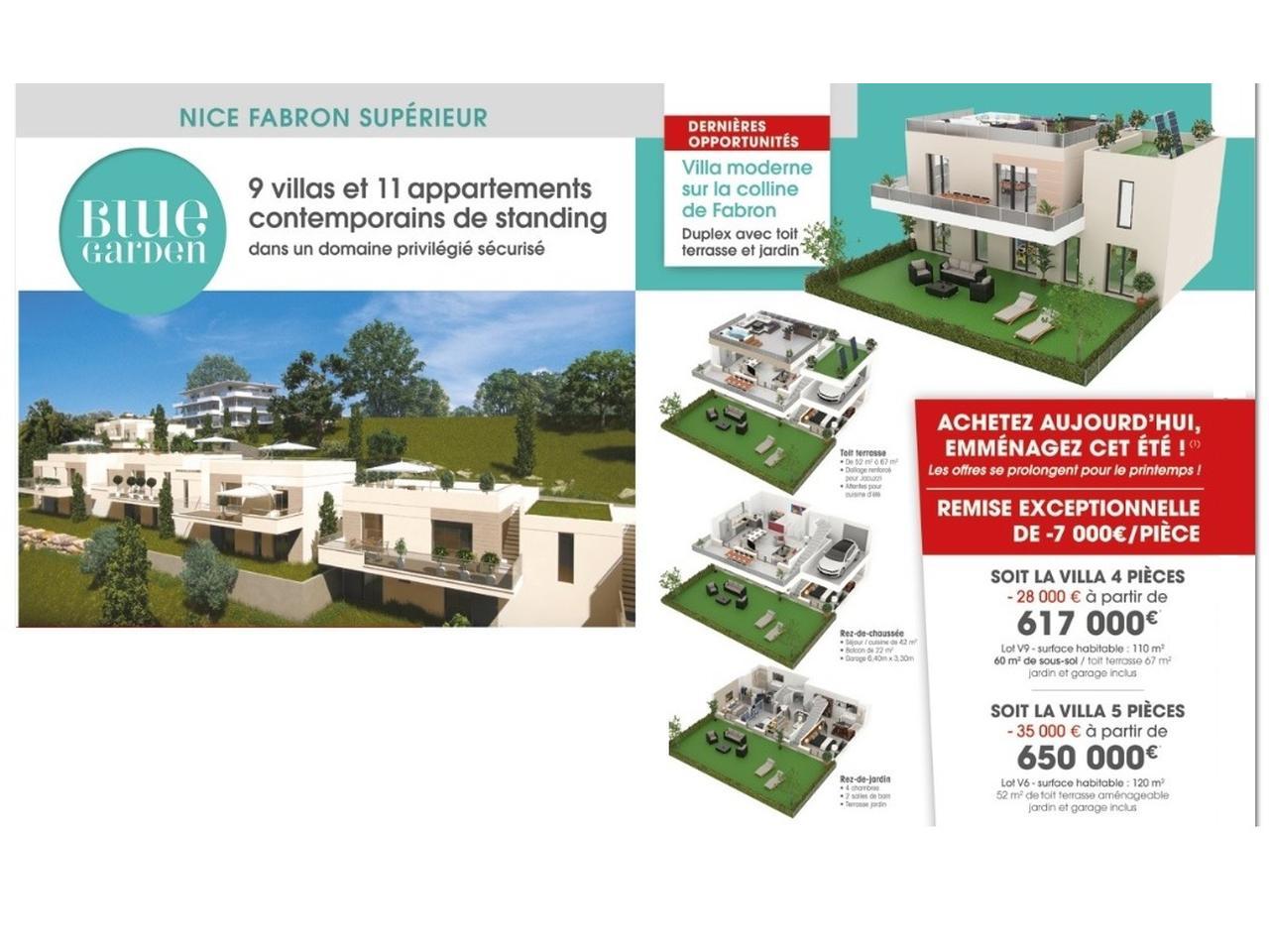 immobilier nice vue mer maison nice villa programme neuf vefa nice ouest blue garden. Black Bedroom Furniture Sets. Home Design Ideas