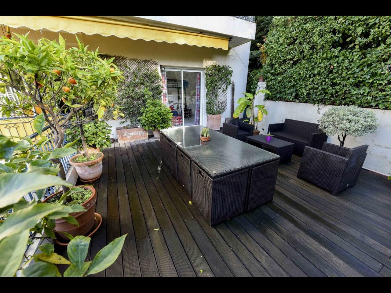 Immobilier nice vue mer appartement nice 3 pieces en rez for Appartement rez de jardin nice
