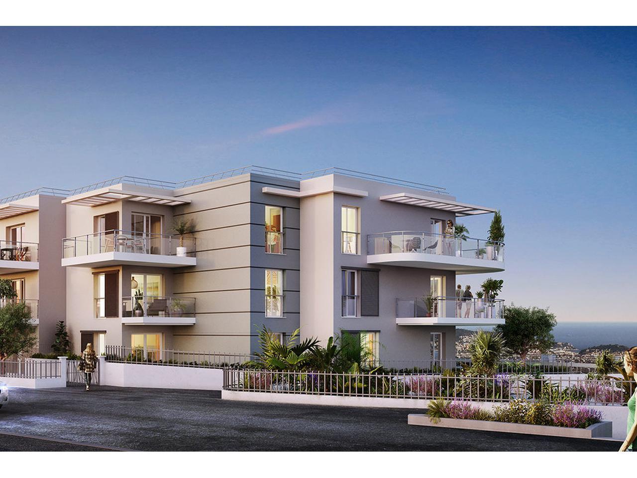Immobilier nice vue mer appartement nice 3 pieces vefa a for Appartement rez de jardin nice