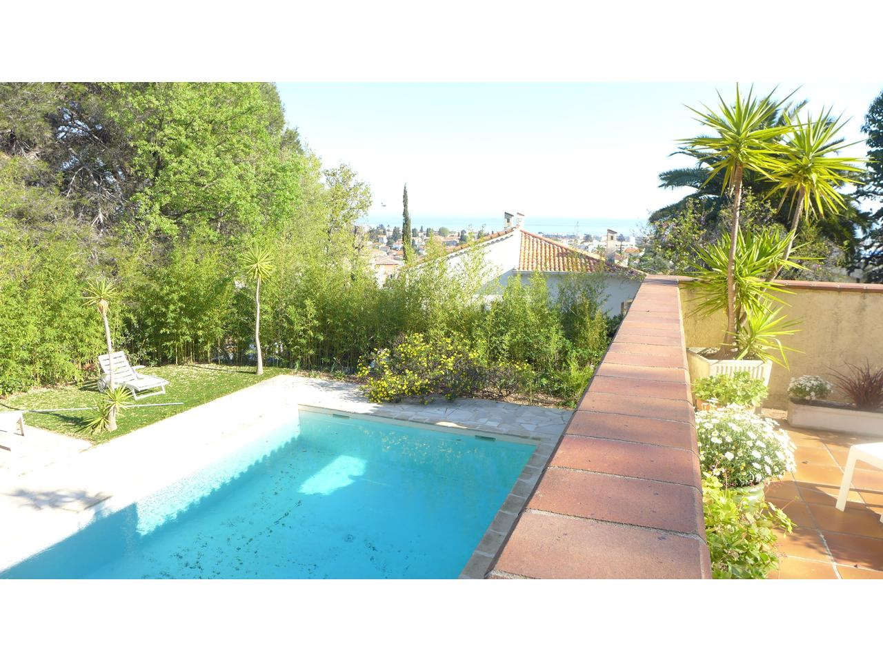 Immobilier nice vue mer maison cagnes sur mer maison a vendre avec vue mer terrain plat avec piscine - Piscine pente terrain nice ...