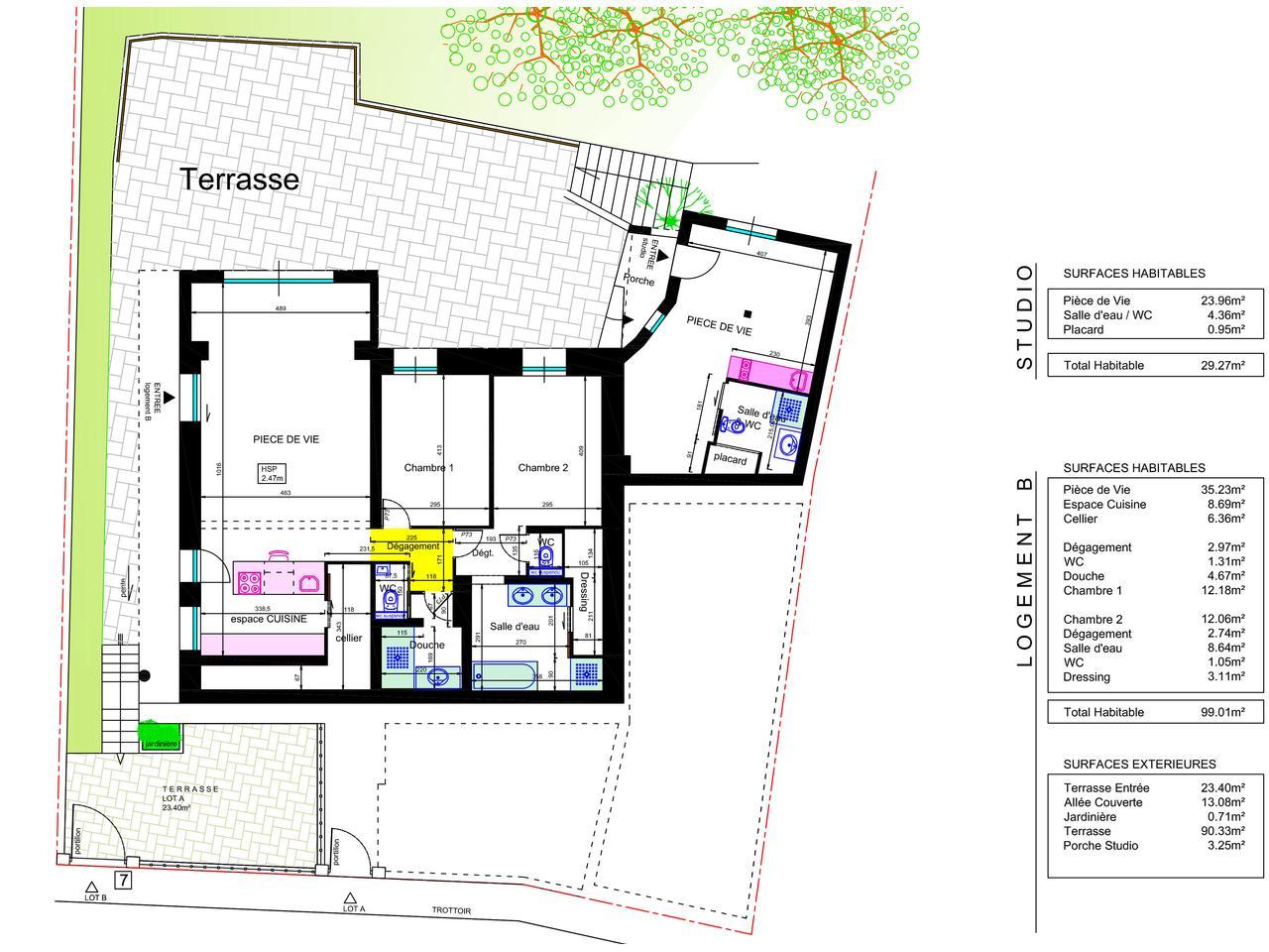 Plan for Amenagement jardin 500m2
