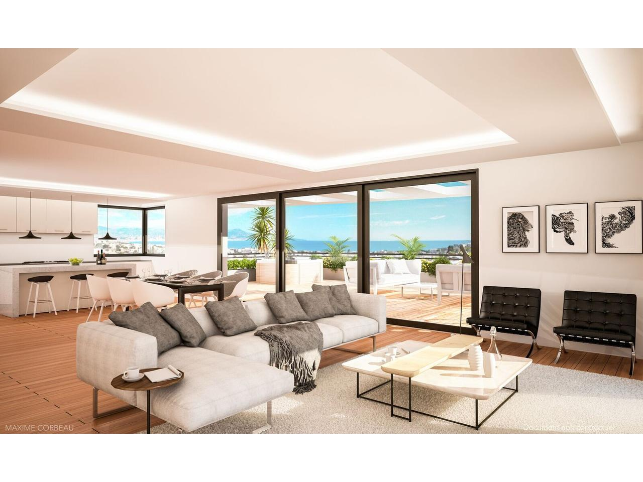 Appartements  3 pieces vue mer programme neuf antibes