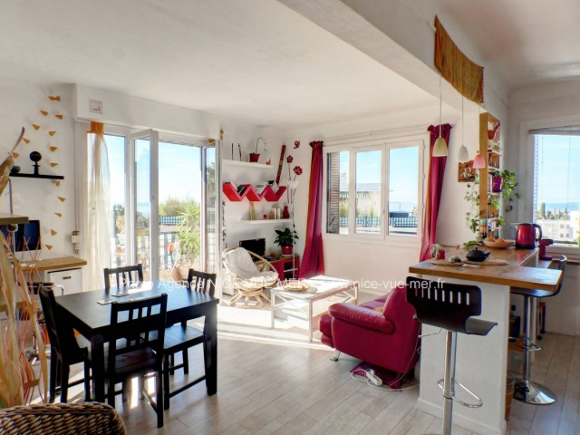 immobilier nice vue mer appartement nice nice ouest grand 2 pieces avec vue mer a vendre. Black Bedroom Furniture Sets. Home Design Ideas