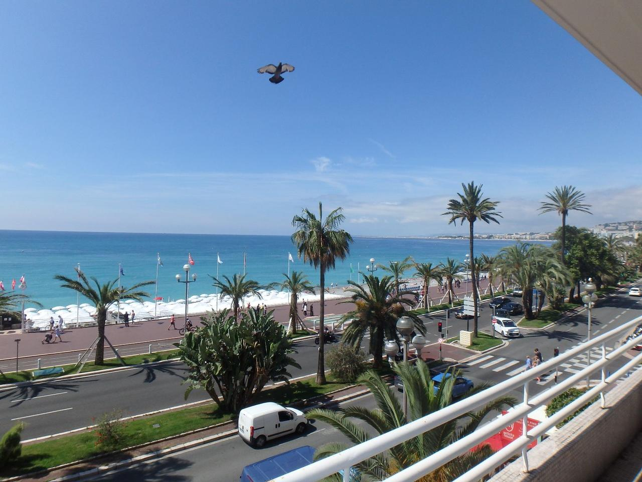 french riviera promenade des anglais 4 rooms sea view for sale