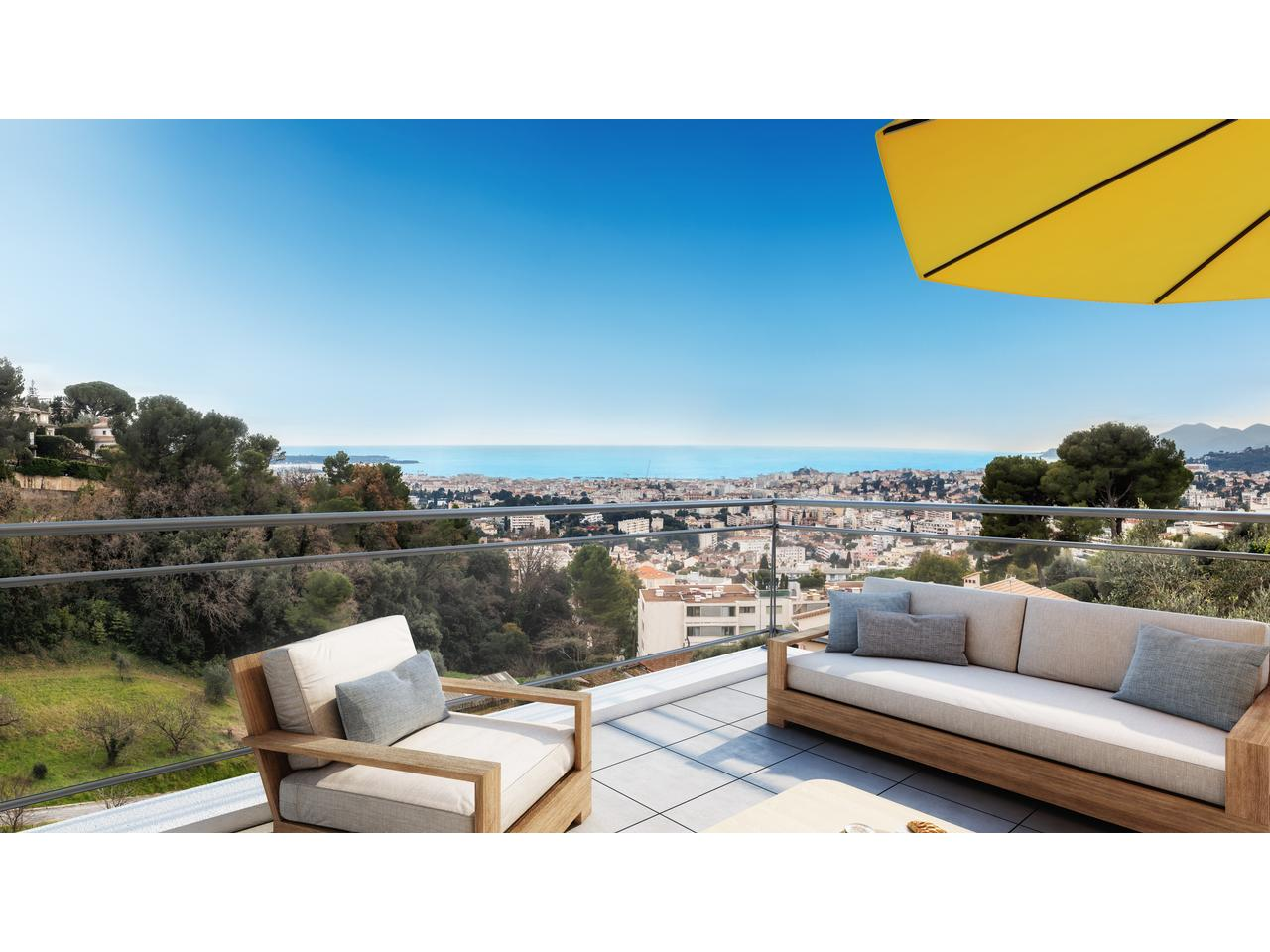 penthouse for sale new construction sea view canne