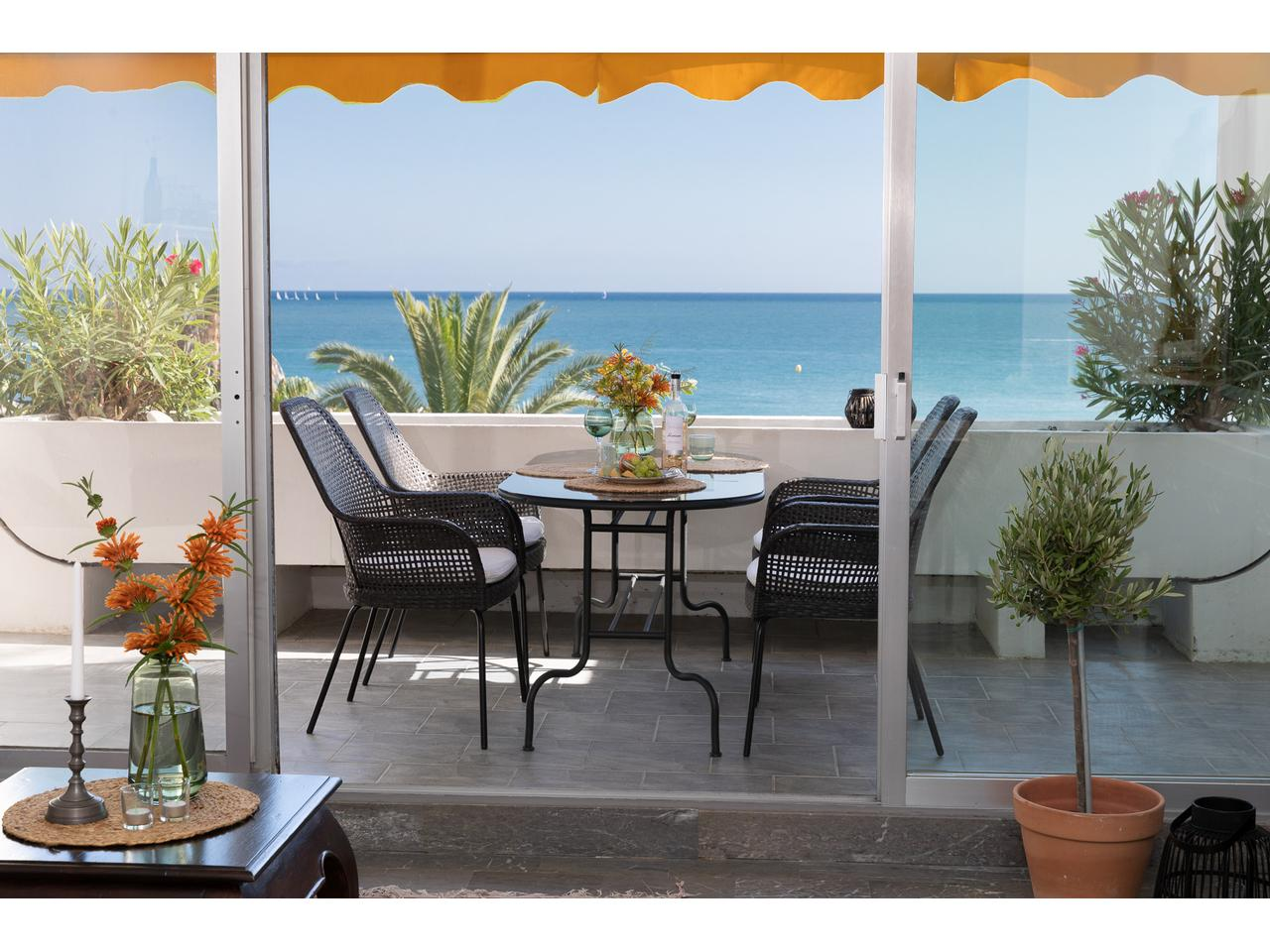 Appartement 3 pieces vue mer plage saint laurent