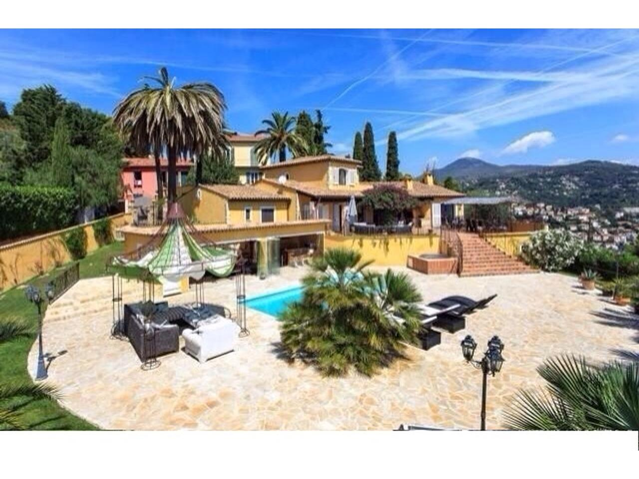 Immobilier nice vue mer maison nice villa neo provencale a for Achat maison nice