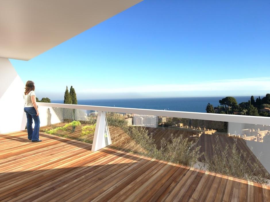 Roquebrune cap martin bellevue programme neuf vefa luxe for Terrasses en vue immobilier