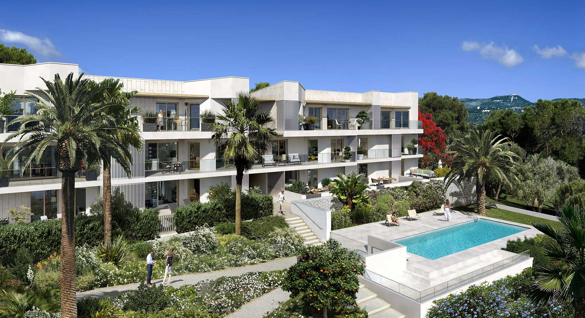 Programme neuf Luxe VUE MER Nice Ouest Fabron